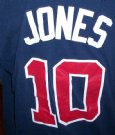 Atlanta+Braves+#10+Chipper+Jones+MLB+Baseball+T-Shirt:+L