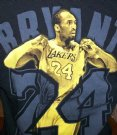 LA+Lakers+#24+Bryant+Black+Mamba+NBA+Basket+T-Shirt:+M