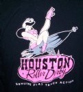 T-Shirt+Houston+Roller+Derby+Flat+Track:+L