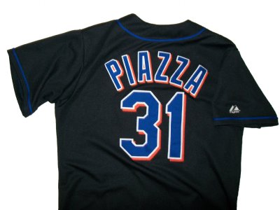 New+York+Mets+#31+Piazza+MLB+Baseball+skjorta:+L