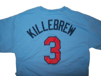 Minnesota+Twins+#3+Killebrew+MLB+Baseball+T-Shirt:+L
