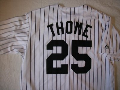 Chicago+White+Sox+#25+Thome+MLB+Baseballskjorta:+L