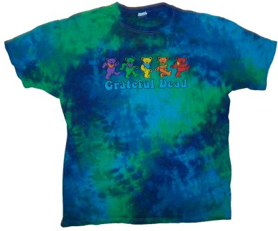 Grateful+Dead+Dancing+Bears+Batik+T-Shirt:+XL