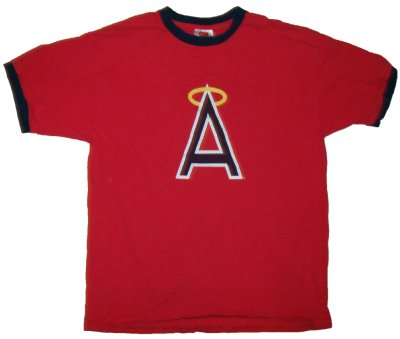 California+Anaheim+Angels+MLB+Baseball+T-Shirt:+L