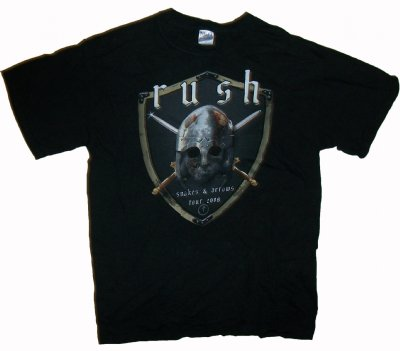 Rush+2009+US+Tour+T-Shirt:+M