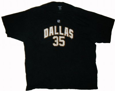 Dallas+Stars+#35+Turco+NHL+T-Shirt:+XXL