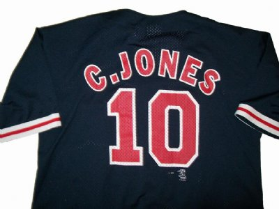 Atlanta Braves #10 Chipper Jones MLB Baseball skjorta: XL