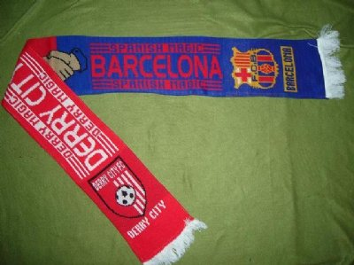 Barcelona+Derry City Irland Halsduk
