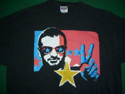 Beatles Ringo Starr Tour T-Shirt: XL
