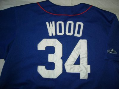 Chicago Cubs #34 Wood MLB Baseball skjorta: XL