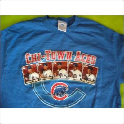 Chicago Cubs Chi-Town Aces MLB Baseball T-Shirt: L