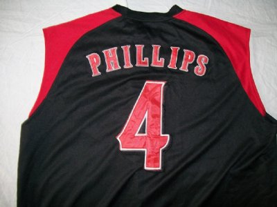 Cincinnati Reds #4 Phillips MLB Baseball skjorta: XL