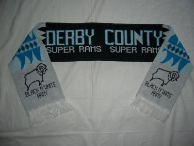 Derby County FC Halsduk Black & White Army