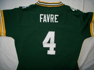 Green Bay Packers #4 Favre NFL Football tröja PRO dam: M