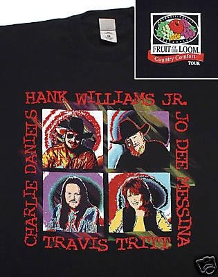 Hank Williams JR Charlie Daniels mfl Country T-Shirt: XL