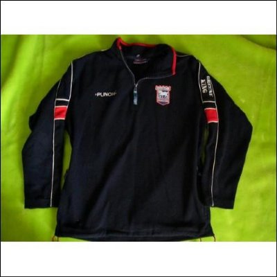 Ipswich Town FC : Officiell PUNCH Fleece tröja : S