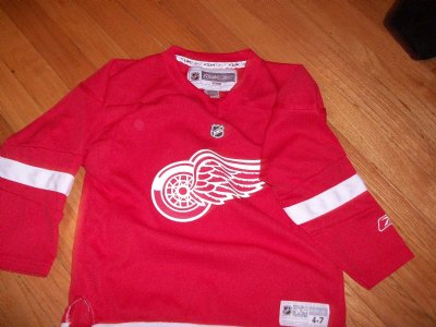 Detroit+Red+Wings+#1+Coach+Sirois+NHL+Hockey+tröja:+XL