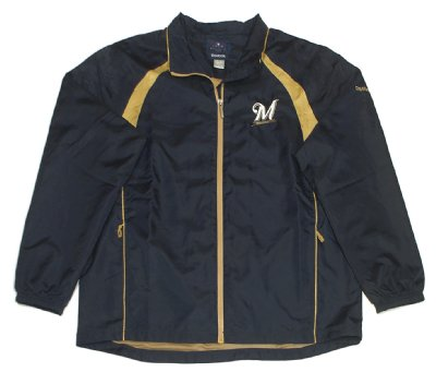 Milwaukee+Brewers+Windbreaker+Jacka+MLB+Baseball:+XL