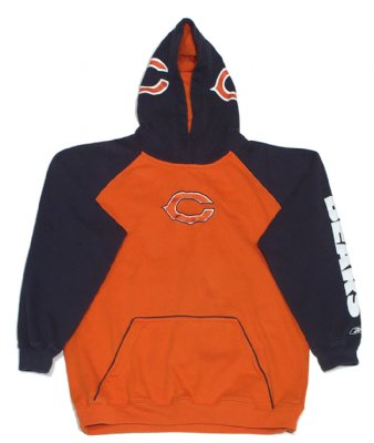 Chicago+Bears+Hooded+Sweater+NFL+Football:+Ungdom+18-20år