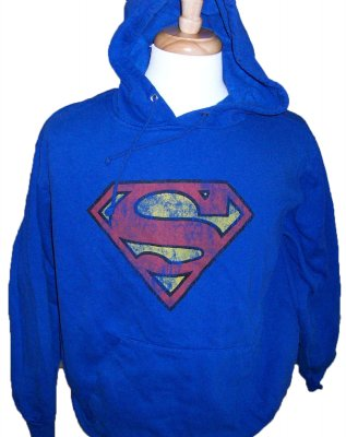 Superman+Stålmannen+Hooded+Sweater+DC:+L
