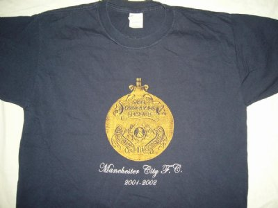 Manchester City 2001-2002 Champions T-Shirt: L