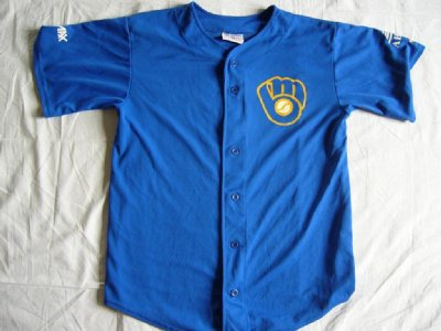 Milwaukee Brewers #4 Matchanvänd Baseball skjorta: L