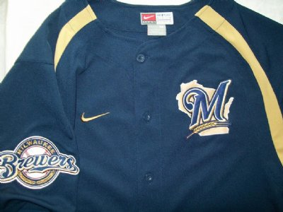 Milwaukee Brewers MLB Baseball skjorta: M