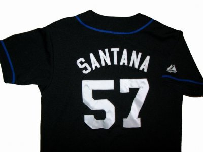 New York Mets #57 Santana MLB Baseball skjorta: Barn stl.