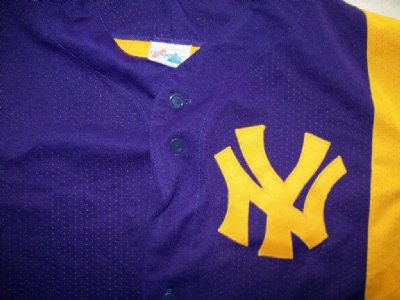 New York Yankees/ LA Lakers MLB Baseball skjorta: L