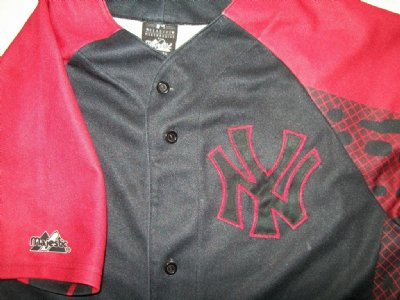 "New York Yankees MLB Baseball skjorta ""Hellfire"": L"