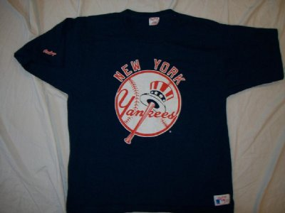 New York Yankees MLB Baseball T-Shirt Vintage Rawlings: L