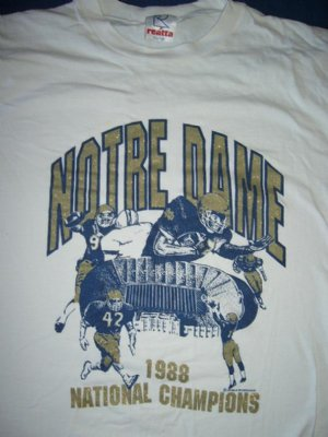 Notre Dame T-Shirt National Champions: XL