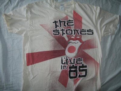 "Rolling Stones ""Live in 85"" Japan T-Shirt: M/L"