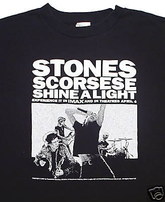 Rolling Stones Scorsese Fender Shine a light T-Shirt XL