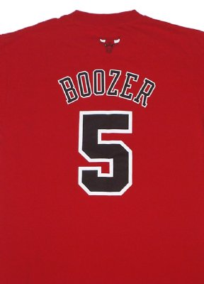 Chicago+Bulls+#5+Boozer+NBA+Basket+T-Shirt:+M