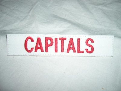 Washington Capitals strip med kardborre