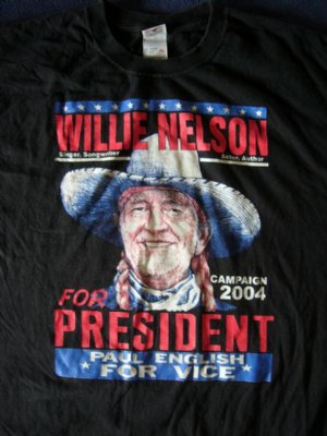 Willie Nelson T-Shirt Willie for President: XL
