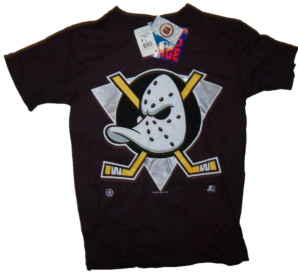 Anaheim mighty ducks vintage nhl t shirt m for Retro nhl t shirts